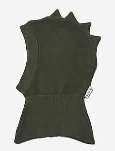 Mads knit hat - balaclava - dino hunter green