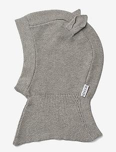 Mads knit hat - balaclava - rabbit grey melange