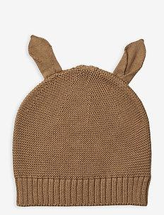 Mathilde knit hat - kapelusze - camel