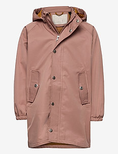 Spencer long raincoat - jassen - dark rose