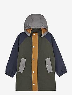 Spencer long raincoat - jackets - hunter green multi mix