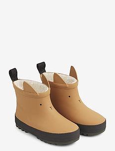 Jesse thermo rain boot - gummistøvler - mustard/black mix