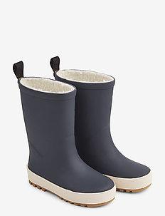 Mason thermo rain boot - bottes en chaouthouc - navy/creme de la creme mix