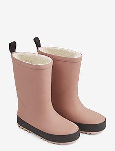 Mason thermo rain boot - rubberboots - dark rose/black mix