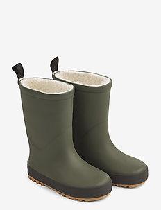 Mason thermo rain boot - bottes en chaouthouc - hunter green/black mix