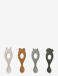 Liva silicone spoon 4-pack - pieczenie i gotowanie - hunter green mix