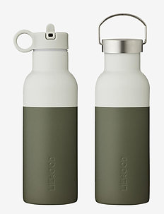Neo water bottle - butelki i termosy - hunter green/dove blue mix