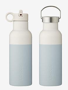 Neo water bottle - butelki i termosy - sea blue/sandy mix