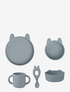 Vivi silicone set - dinner sets - rabbit sea blue
