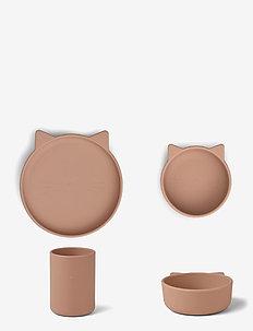 Cyrus silicone junior set - zestawy obiadowe - cat dark rose