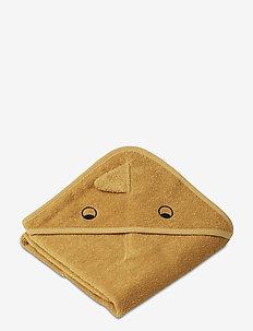 Albert hooded towel - ręczniki i szmatki - dino yellow mellow