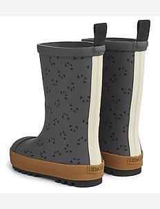 River rainboot - uforede gummistøvler - panda stone grey mix
