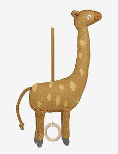Angela music mobile - karuzela - giraffe mustard