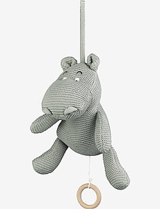 Angela music mobile - karuzela - hippo dove blue