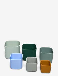 Zuzu stacking cups - tasses et mugs - dove blue multi mix