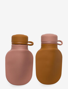 Silvia smoothie bottle 2-pack - sachets alimentaires - mustard/dark rose mix