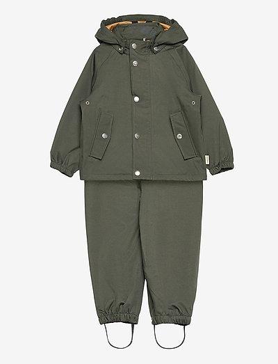 Dakota rainwear - overaller - hunter green