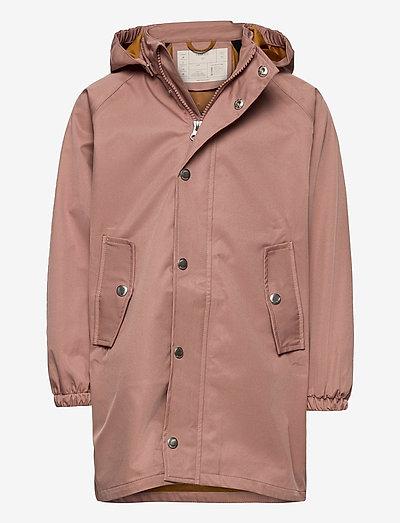 Spencer long raincoat - overaller - dark rose