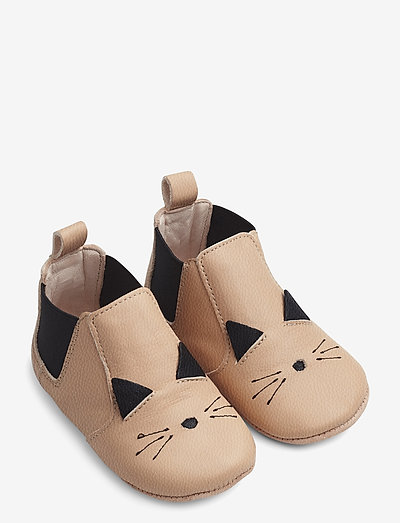 Edith leather slippers - tøfler - cat rose