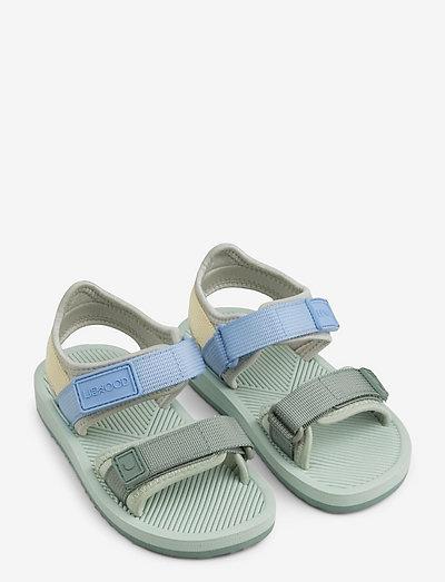 Monty sandals - stropp-sandaler - dusty mint multi mix