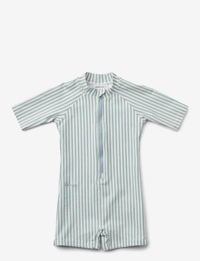 Max swim jumpsuit seersucker - uv-clothing - y/d stripe