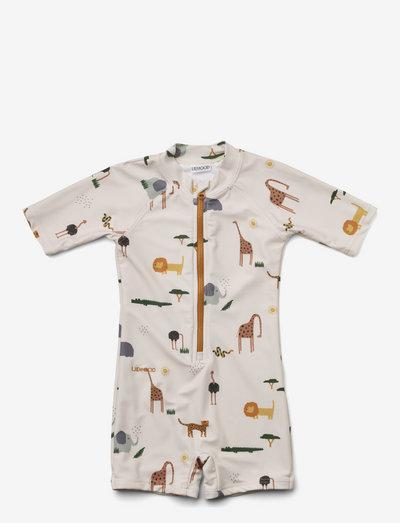Max swim jumpsuit - uv-clothing - safari sandy mix