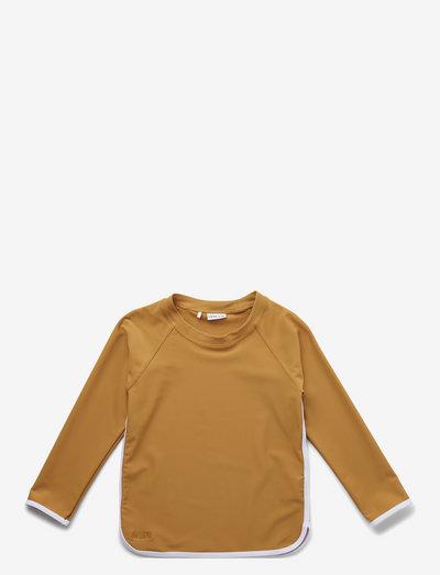 Manta swim tee - uv-clothing - mustard