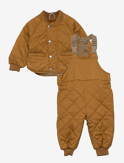 Eli thermo set - coveralls - golden caramel