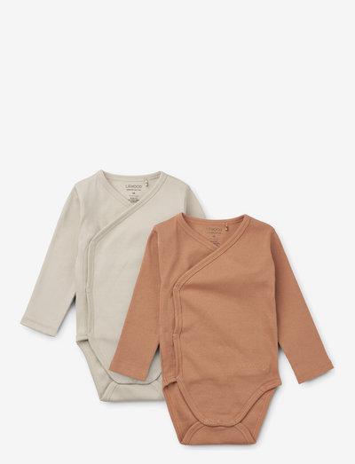 Hali body stocking ls 2-pack - long-sleeved - tuscany rose/sandy mix