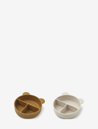 Connie divider bowl 2-pack - plates & bowls - golden caramel/sandy mix