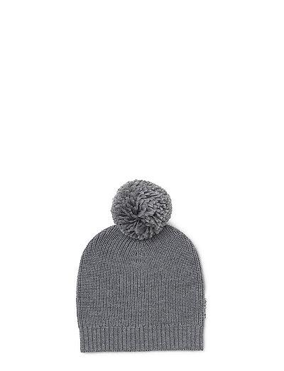 Knit hat pom pom - GREY MELANGE