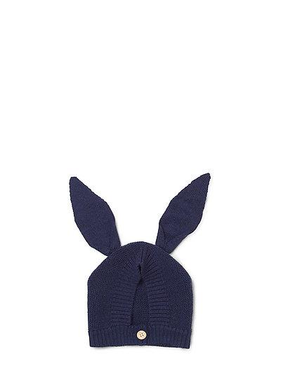 Knit baby hat rabbit - NAVY