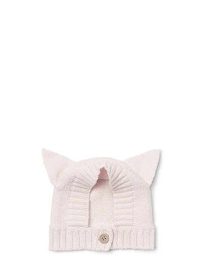 Knit baby hat cat - SWEET ROSE