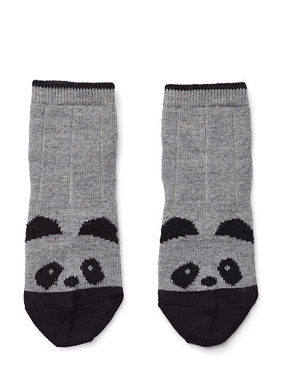 Silas wool socks - PANDA GREY MELANGE