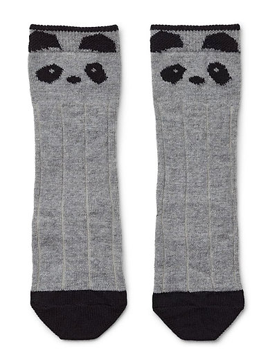 Sofia wool knee socks - PANDA GREY MELANGE