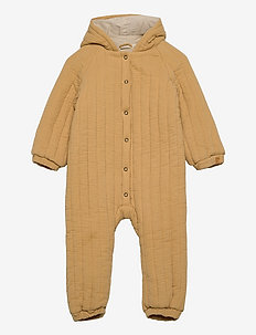 NBFGALLA SUIT W HOOD SOLID - thermo coveralls - taos taupe