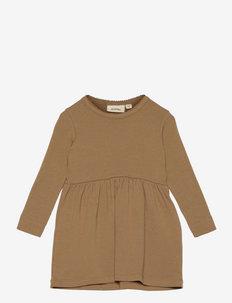 NMFGAYA LS DRESS SOLID - kleider - ermine