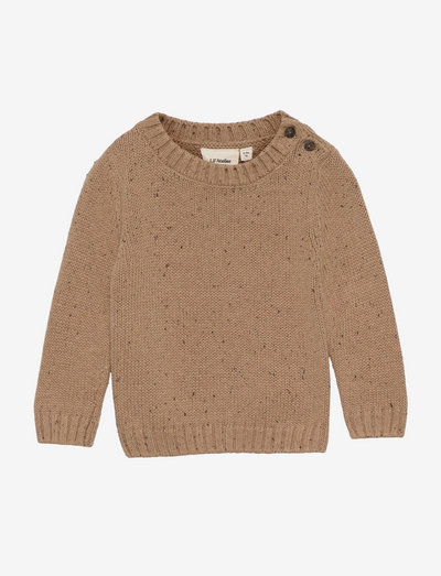 NBMEGALTO LS KNIT - jumpers - tobacco brown