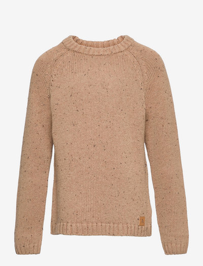 NMMEGALTO LS KNIT - jumpers - tobacco brown
