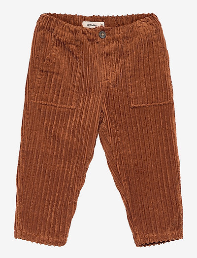 NMNELLERY LOOSE ANCLE CORD PANT - trousers - tortoise shell