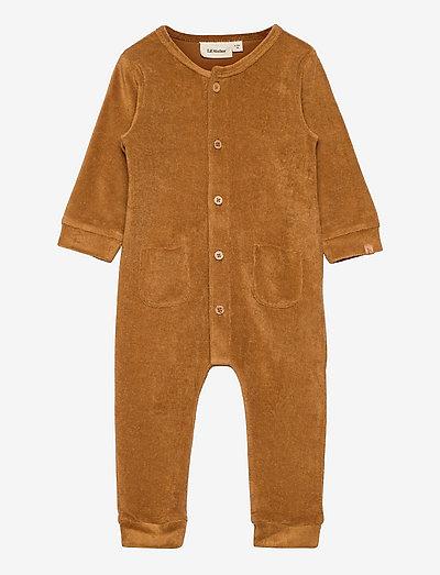 NBMEVALD LS SWEAT SUIT - long-sleeved - tobacco brown