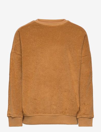 NMMEVALD LS OVERSIZED SWEAT - sweatshirts - tobacco brown