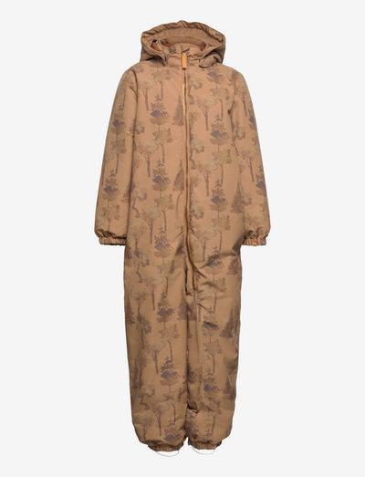 NMMLASNOW10 SUIT P - snowsuit - tobacco brown