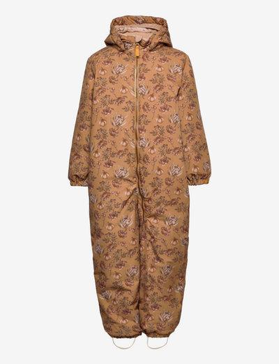 NMFLASNOW10 SUIT P - snowsuit - tobacco brown