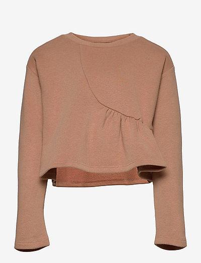 NMFISELMA LS LOOSE SHORT SWEAT EX - sweatshirts & hættetrøjer - roebuck