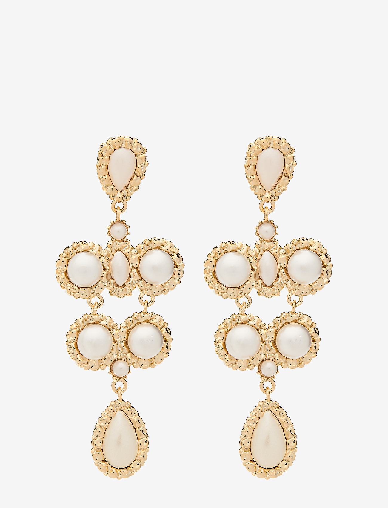 LILY AND ROSE - Miss Kate Pearl earrings - Ivory - statement - ivory