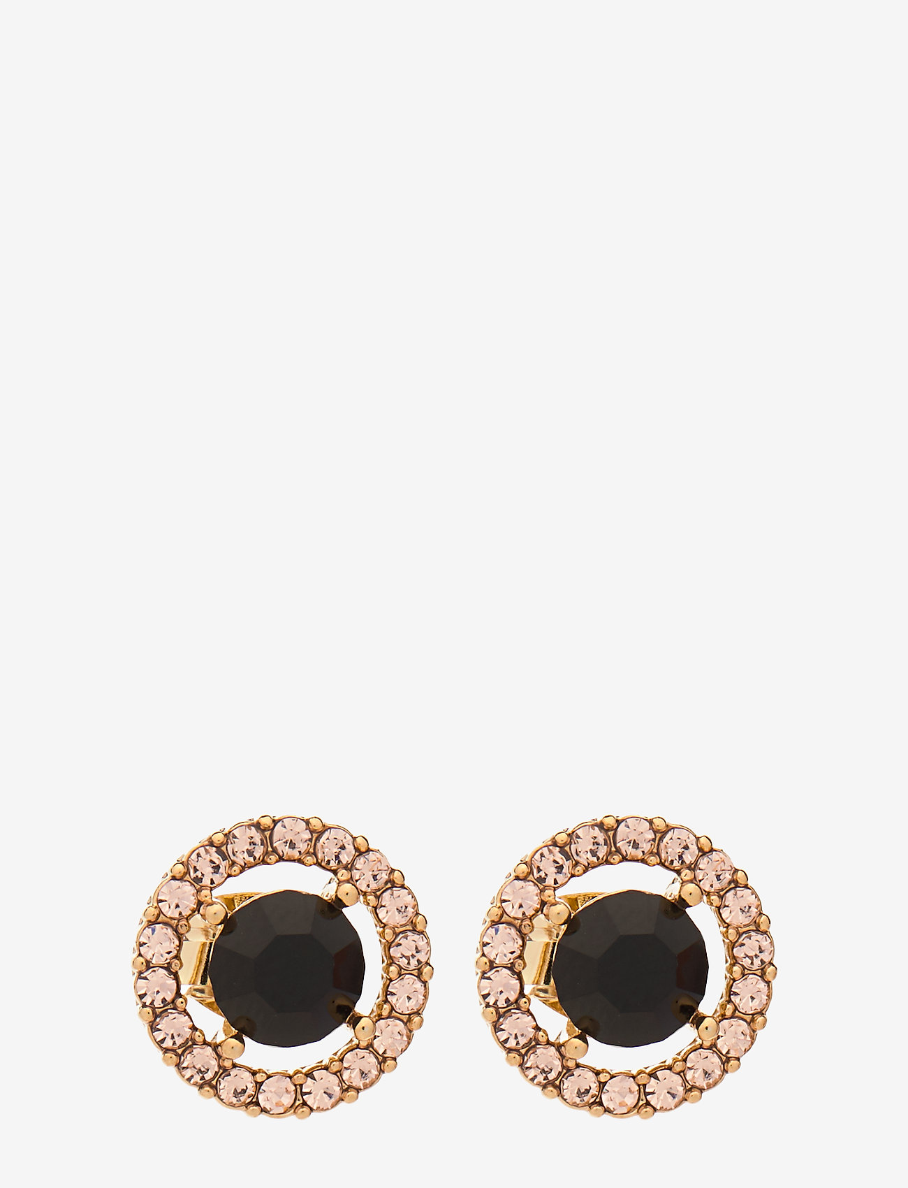 LILY AND ROSE - Miss Miranda earrings - Jet (Gold) - studs - jet - 0