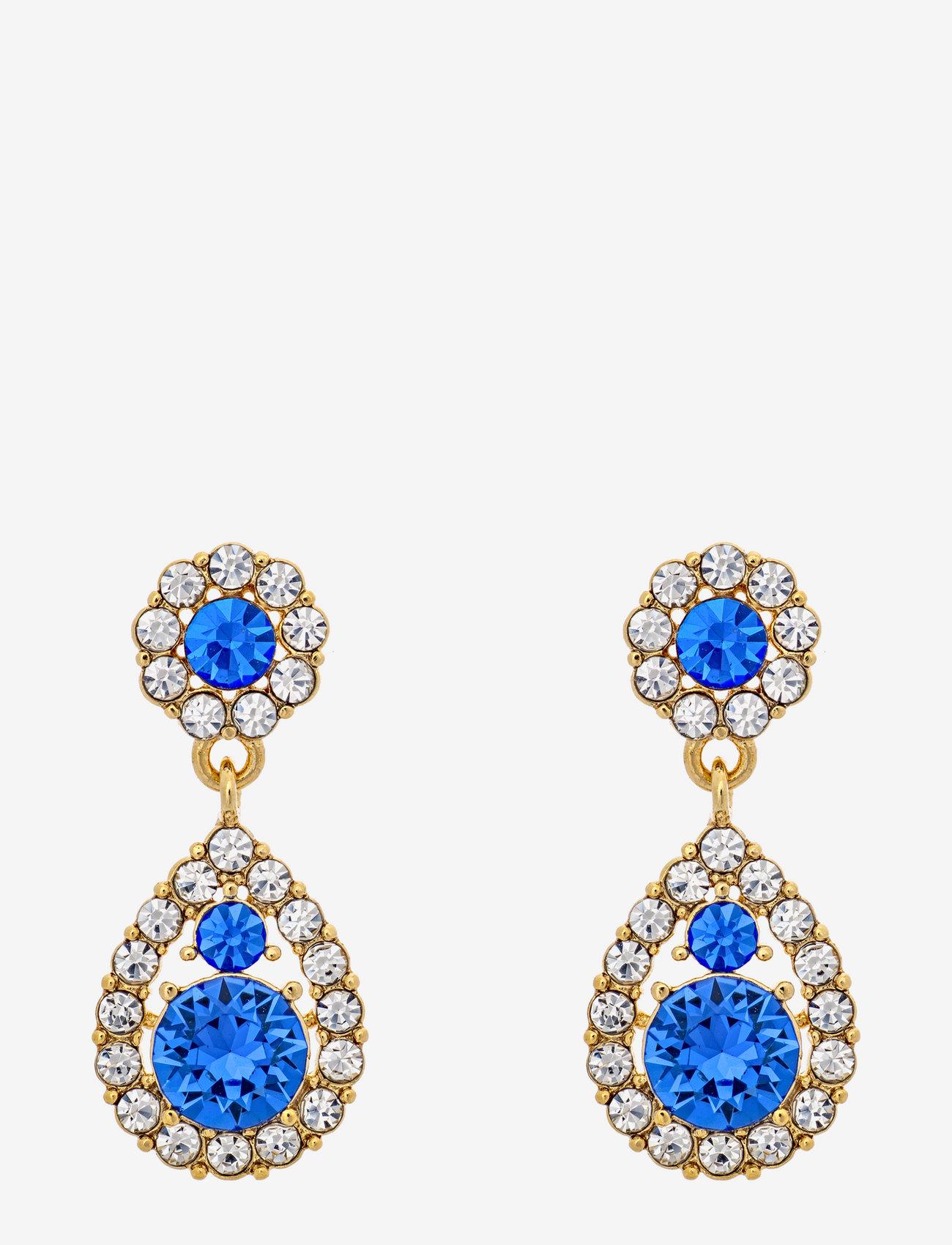 LILY AND ROSE - Petite Sofia earrings - Sapphire - hängande örhängen - sapphire - 0