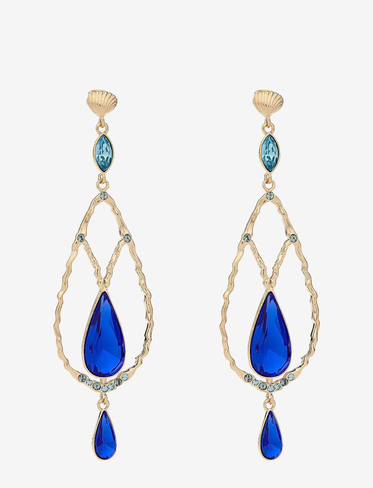LILY AND ROSE - Garbo earrings - Majestic blue - statement - majestic blue