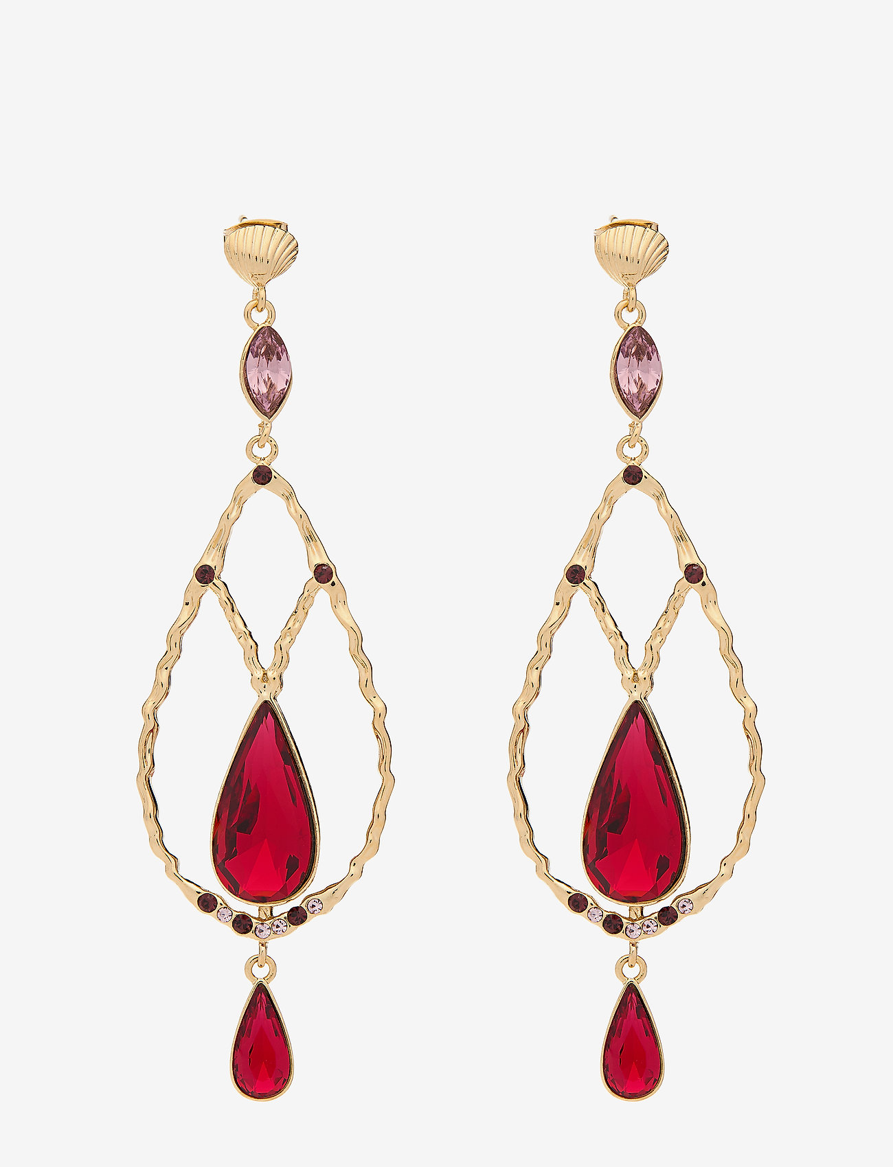 LILY AND ROSE - Garbo earrings - Scarlet - statement - scarlet